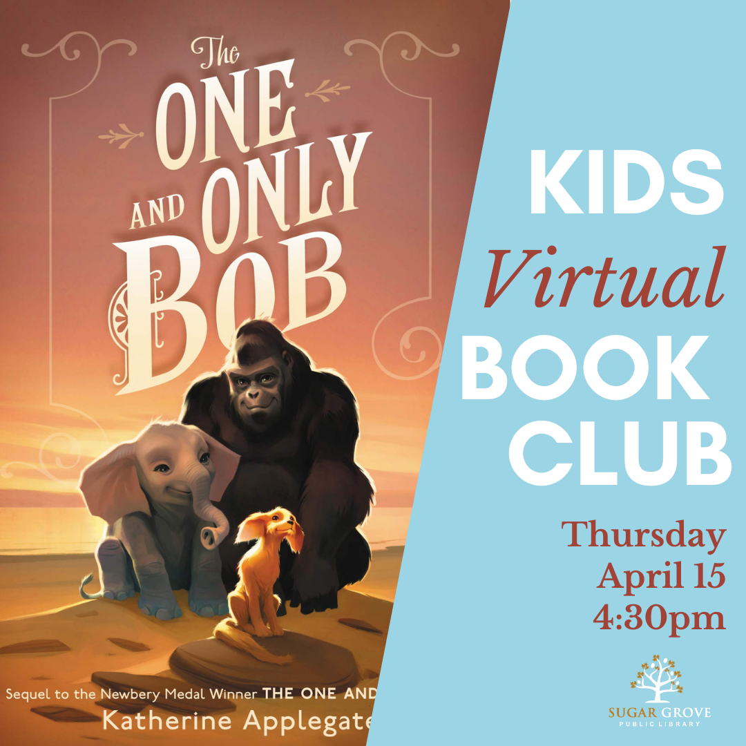 kids virtual book club - one and only bob